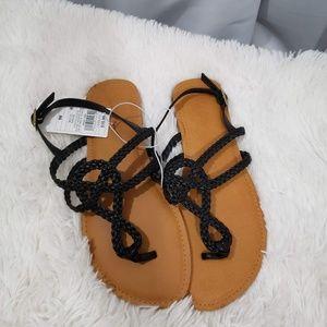 """Jana"" Universal Thread Braided Sandals Size 9W"